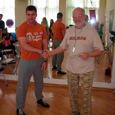 С фитнес-гуру Леонидом Остапенко